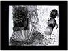 Obraz SPOTKANIE, Grafika- Linoryt w ramie aluminiowej