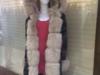 Zimowe długie płaszcze / parki bawełniane obszyte lisem