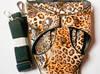 Kabura fryzjerska pas fryzjerski etui do nożyczek leopard