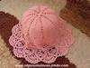 Śliczna ażurowa czapeczka - miniaturka