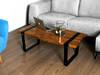 Stolik kawowy stół dębowy loft industrial design
