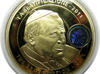 BEATYFIKACJA Papież Jan Paweł II Nowy Złoty Olbrzymi Medal Srebrny CERTYFIKAT w Kapslu oraz ZŁOTE EURO - DOLAR i Jan Paweł II - miniaturka