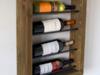 Półka na 4 butelki wina z drewna