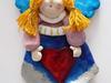 Anioł z masy solnej - figurka na ścianę - miniaturka