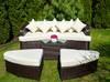 Zestaw ogrodowy sofa technorattan Alessia brąz, szary