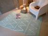 Miętowy dywan do pokoju dziecka 120x160 cm do prania BAWEŁNA