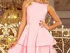 169-4 Sukienka CRISTINA rozkloszowana różowa