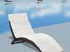 Leżak ogrodowy składany, z poduszką, polirattan 41808