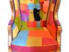 Fotel LUdwik Antyk Kolorowy Stylowy - miniaturka