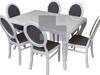 Stół dębowy glamour 160-240cm i krzesła, drewno