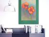 kolorowy rysunek do pokoju,kwiaty obrazek do domu,szkic maki