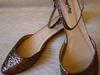 Stylowe płaskie buty, gold cekin, rozmiar 41