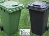 Pojemnik Kosz na śmieci odpady 240L GRAFIT ZIELONY Tanio!