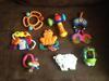 Zabawki, grzechotki dla niemowlaka - 8 sztuk