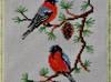 """Haft krzyżykowy - obraz """"Ptaki - gile"""""""