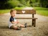 Ławeczka drewniany foto rekwizyt do dziecięcych sesji zdjęci