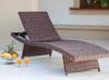 Leżak ogrodowy technorattan CARLO brąz