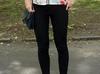 Wyszczuplające Czarne legginsy Dobra Jakość - miniaturka