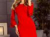 MARGARET sukienka z koronką na rękawkach czerwony