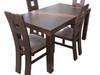 Stół rozkładany z jednym wkładem 120x80 +40 oraz 4 krzesła