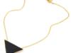 Naszyjnik - czarny trójkąt na złotym wisiorku - miniaturka