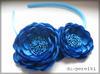 niebieska opaska chaber - dwa kwiatki, dziewczynka - miniaturka