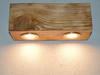 Kinkiet belka drewniana Półka Lampa pozioma Loft Vintage