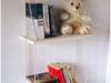 Półka na linach z drewna handmade