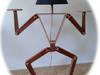 Lampa Stojąca Drewniana / Lampa Podłogowa Z Drewna