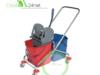 Wózek do sprzątania metalowy dwuwiaderkowy 2x25L