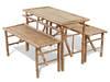 vidaXL Stół piknikowy z ławkami, 3 elementy, składane 41502