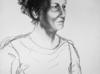 Rysunek kobieta ołówek węgiel