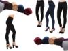 Nowe czarne polarowe legginsy termiczne