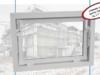Brązowe okno gospodarcze plus inwentarskie szyba 5,5mm 80x50