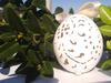Ręcznie wykonane ażurowe jajko wielkanocne