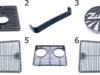 Kratka ZETOR boczna, przednia Listwa ozdobna, Emblemat ZETOR