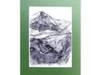 biało czarny obrazek do pokoju,krajobraz górski rysunek szki