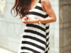 bluzka paski H&M bokserka blogerska M tunika Bershka