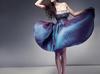 Sukienka wiczorowa na różne okazje, z tafty w odcieniach fiołków