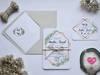 Wyjątkowe zaproszenia ślubne jednokartkowe - Stardust Studio