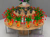 Wyspa do eksponowania kwiatów ciętych
