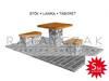 Meble ogrodowe meble do ogrodu stół ławka taboret gabiony
