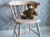 Krzesło pudrowy róż shabby chic vintage