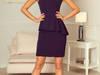 jokastyl sukienka z baskinką GRANATOWA S M L XL