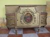 Piękne bardzo duże antyczne lustro - rama rzeźbiona z szafką