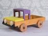 Drewniany samochód foto rekwizyt do sesji zdjęciowych, auto