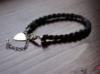 Biżuteria ręcznie robiona - naszyjnik i bransoletka z dzianiny - miniaturka