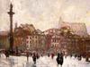 "obraz ""Impresja warszawska"", Masłowski, 40x30 - miniaturka"