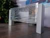 Szafka RTV metalowa ze szklaną szybą