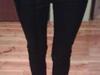 Modne granatowe spodnie wysoki stan 36 - miniaturka